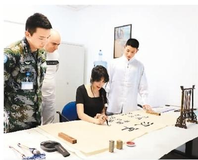 赴黎巴嫩维和部队的中文班