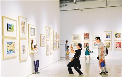 首届全国少儿美术作品展举办