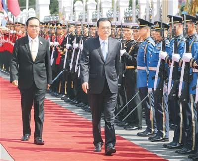 <b>李克强同泰国总理会谈并会见记者</b>