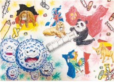 中欧青少年画笔绘友谊