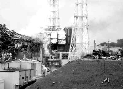日本福岛核电站爆炸现场