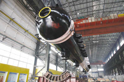 锅炉股份有限公司出口哥伦比亚项目首台300兆瓦亚临界cfb炉汽包在重容