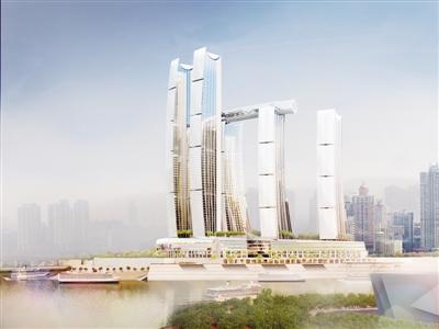 重慶來福士廣場建筑效果圖